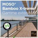 BARDAGE MOSO® BAMBOO THERMO CLASSE 4 - KARL1 40*40*2000 FSC 100%